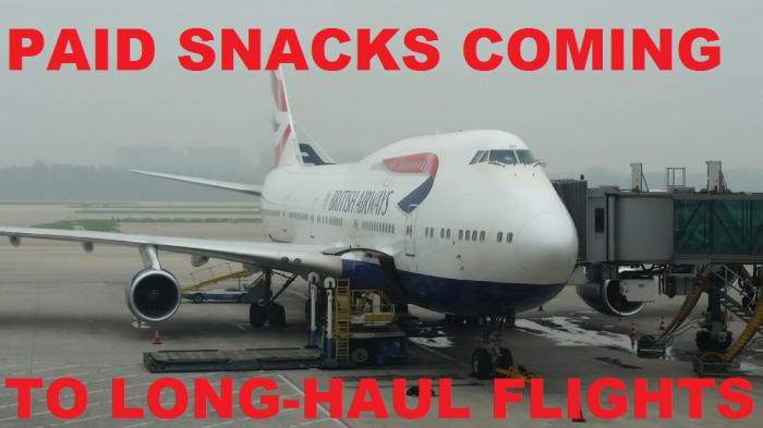 British Airways Paid Snacks