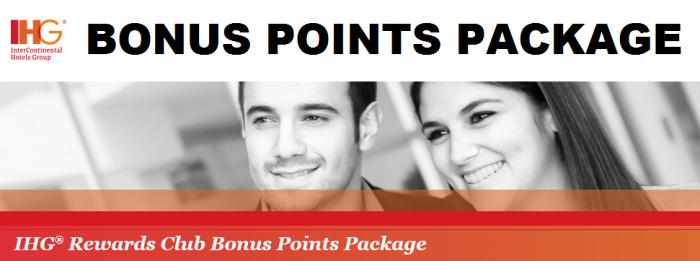IHG Rewards Club Bonus Points Packages