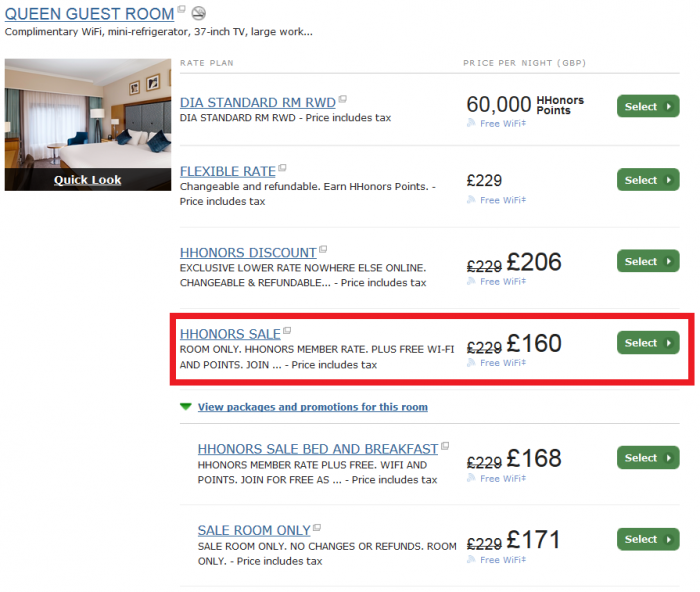 Last Call Hilton HHonors Europe Middle East Africa Summer Sale DoubleTree London - Victoria