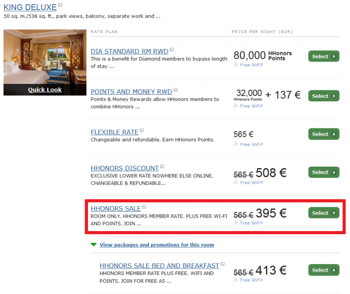 Last Call Hilton HHonors Europe Middle East Africa Summer Sale WA Rome - Cavalieri