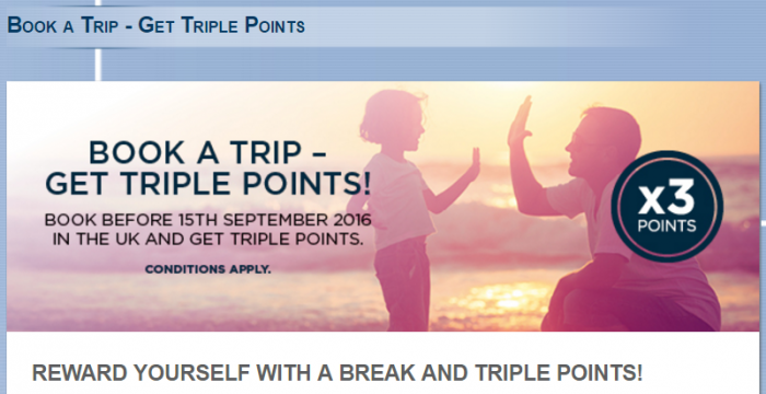 Le Club AccorHotels UK & Ireland Triple Points August 15 - November 15 2016