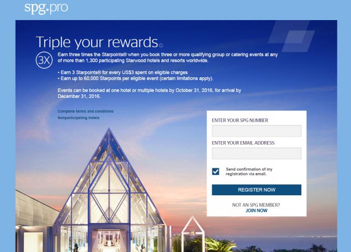 SPG Pro Triple Your Rewards