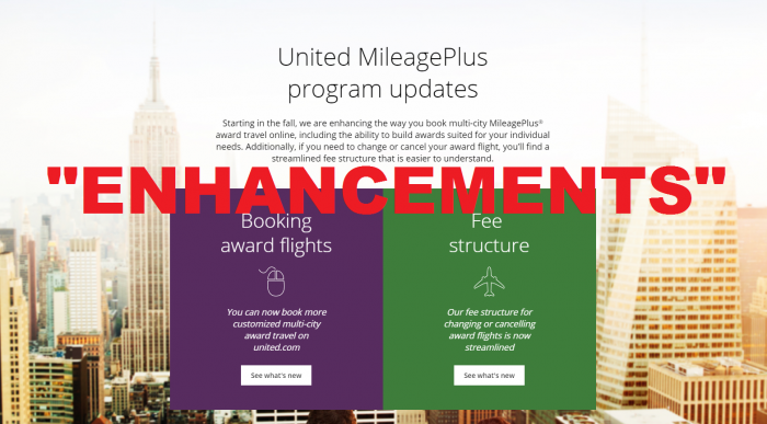 United Airlines MileagePlus Enhancements