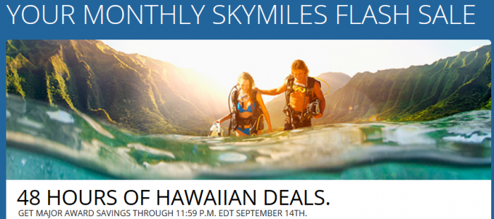 Delta Air Lines SkyMiles Hawaii Flash Sale