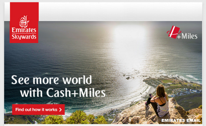 Emirates Skywards Introduces Cash+Miles