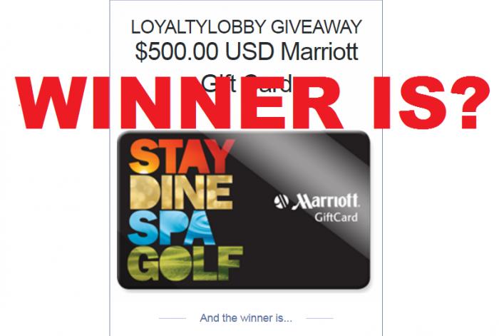 LoyaltyLobby Giveaway 500 USD Marriott Gift Card Winner U