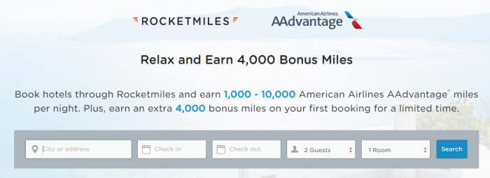 Rocketmiles American Airlines 4,000 Bonus Miles