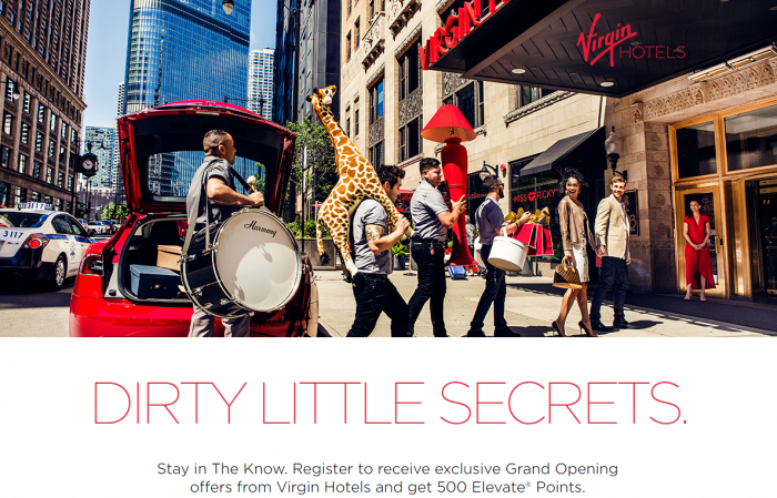 Virgin America 500 Free Elevate Points For Virgin Hotels Email Sign Up