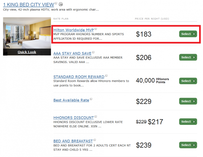 Hilton Hhonors Mvp 20 Off Rate For Americas Hawaii