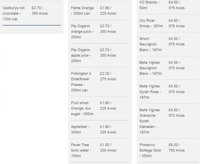 British Airways Byu-on-board Start Drinks 2