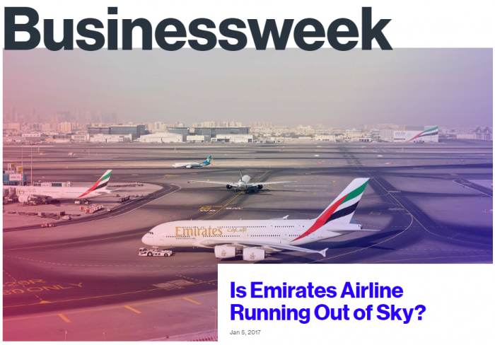 Businessweek Is Emirates Airline Running Out of Sky