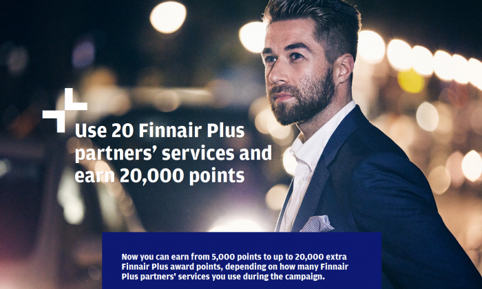 Finnair Plus 20,000 Bonus Points