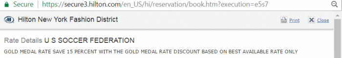 Hilton HHonors Gold Medal Rate 2017 Booking Update Rate Rule
