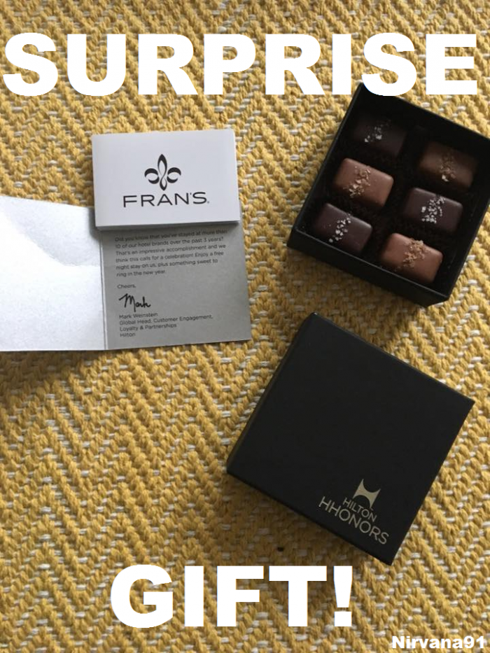 Hilton HHonors Surprise Gift Box Of Chocolates + Free Night Certificate!
