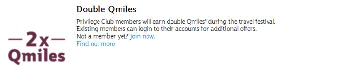 Qatar Airways Travel Festival January 2017 Double Qmiles