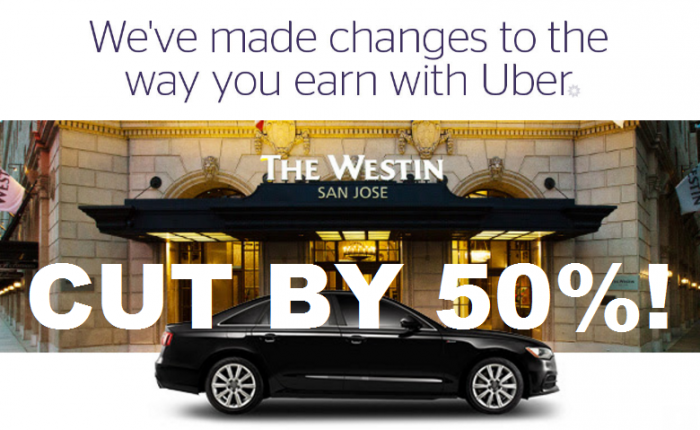 SPG Uber Earning Cut 50 Percent February 1 2017