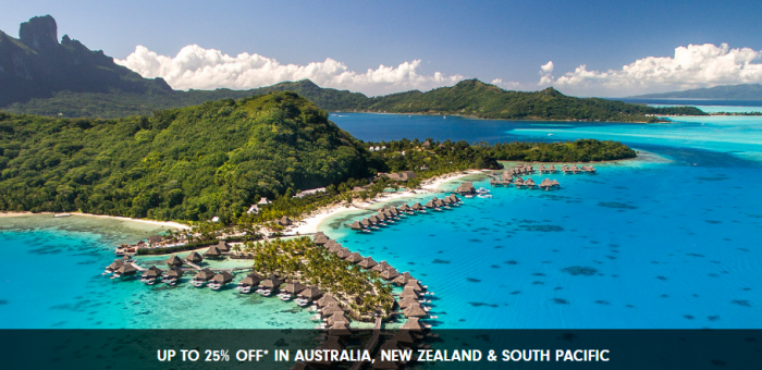 Hilton Honors Asia Pacific Up To 25% Off Sale For Stays Until December 31 2017 Australia New Zealand South Pacific