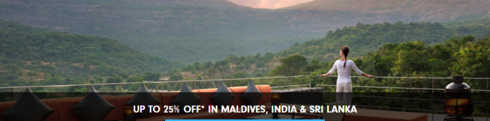 Hilton Honors Asia Pacific Up To 25% Off Sale For Stays Until December 31 2017 Maldives India Sri Lanka