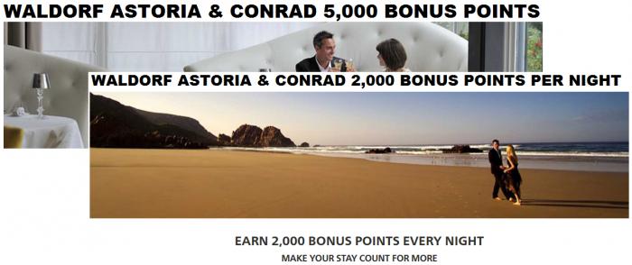 Hilton Honors Conrad & Waldorf Astoria Promotions