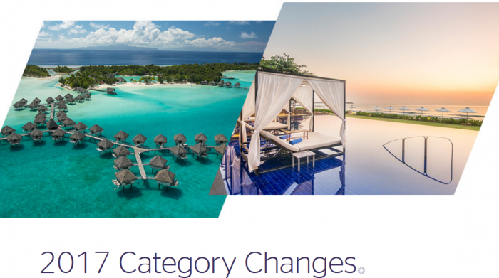 Starwood Preferred Guest (SPG) Award Category Changes March 7 2017