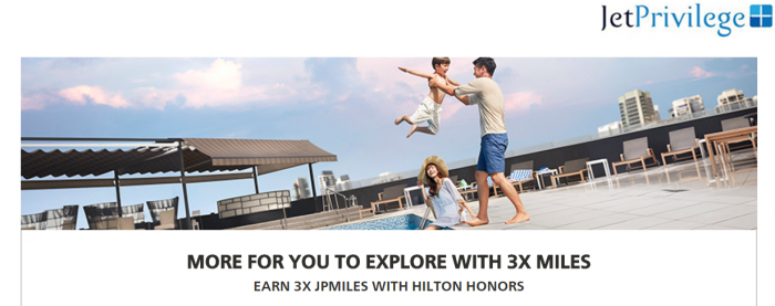 Hilton Honors JetAirwas JetPrivilege Up To Triple JPMiles March 15 - June 30 2017