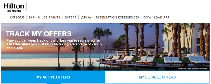 Hilton Honors My Offers Main