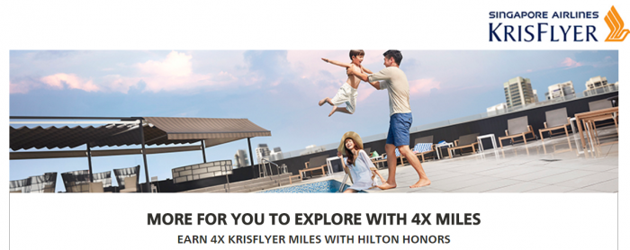 Hilton Honors Singapore Airlines Up To Quadruple KrisFlyer March 15 - June 30 2017