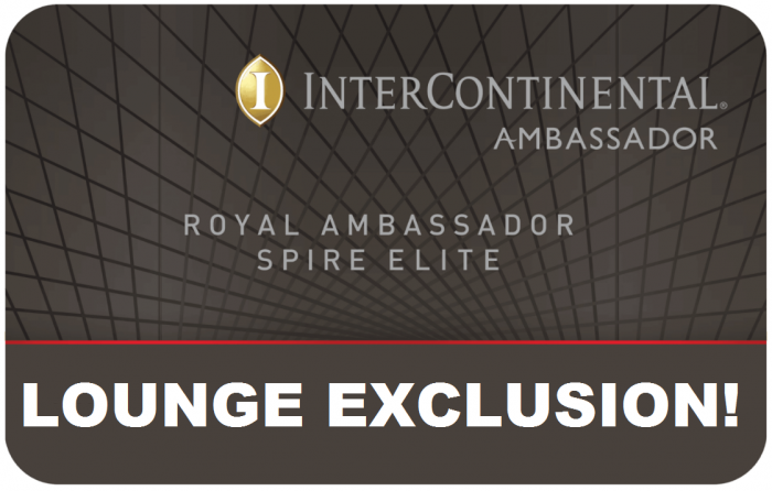 InterContinental Royal Ambassador Benefits Update Lounge Exclusions!