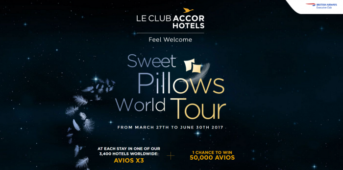 Le Club AccorHotels British Airways Executive Club Triple Avios April 1 - June 30 2017