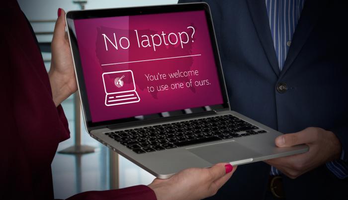 Qatar Airways Loaner Laptops US Bound Flights