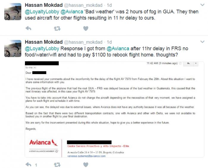 Reader Question Avianca Flight Delay