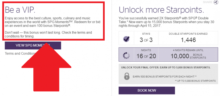 SPG Dashboard Moments Promo