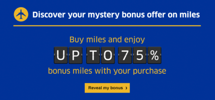 United Airlines MileagePlus Mystery Bonus Campaign March 2017