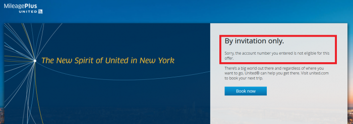 United Airlines MileagePlus NYC No