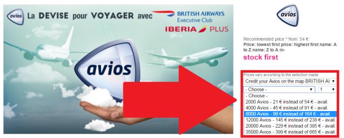 Vente Privee Buy Avios Price U
