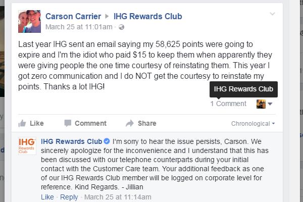 IHG Points Expire 2