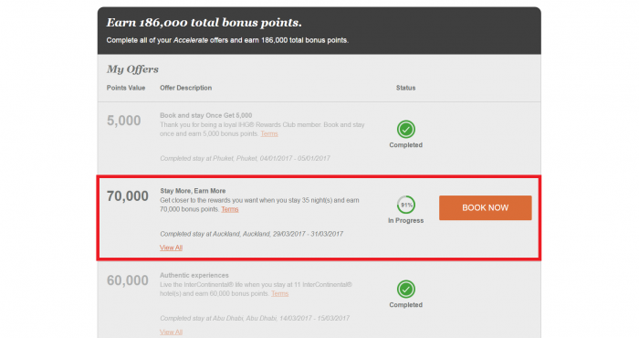 IHG Rewards Club Accelerate Dashboard Not Updating