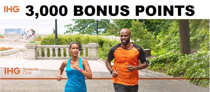 IHG Rewards Club 3,000 Bonus Points April 16 - May 15 2017
