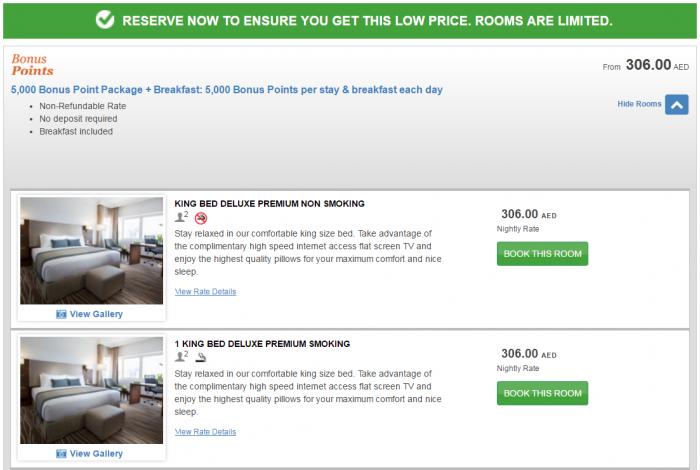 IHG Rewards Club 5,000 Bonus Points Package Dubai & Abu Dhabi Holiday Inn Abu Dhabi Downtown