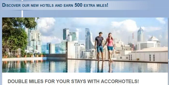 Le Club AccorHotels Lufthansa Miles&More Double Miles Mercure & Novotel Brands (500 base + 500 bonus) May 1 – July 31, 2017