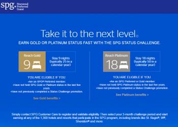 SPG Gold & Platinum Status Match 2017