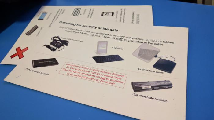 British Airways Electronics Ban Cairo Leaflet 1