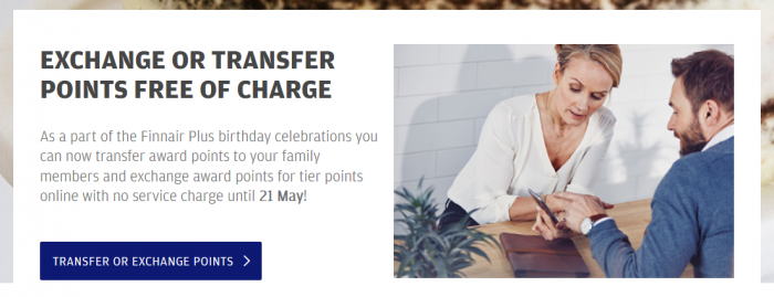 Finnair Plus 25 Years Transfer Points For Free