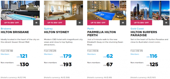 Hilton Honors Asia-Pacific Up To 40 Percent Off Flash Sale May 2017 Australia New Zealand South Pacific 1