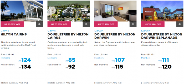 Hilton Honors Asia-Pacific Up To 40 Percent Off Flash Sale May 2017 Australia New Zealand South Pacific 3