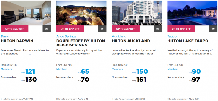 Hilton Honors Asia-Pacific Up To 40 Percent Off Flash Sale May 2017 Australia New Zealand South Pacific 4