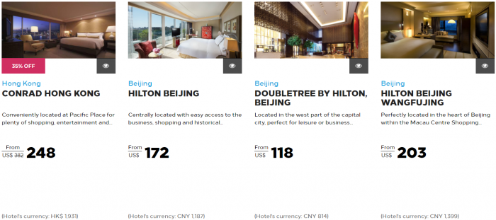 Hilton Honors Asia-Pacific Up To 40 Percent Off Flash Sale May 2017 Hong Kong 1