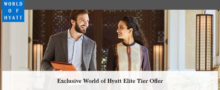 Hyatt World Of Hyatt Elite Tier Offer Explorist Globalist