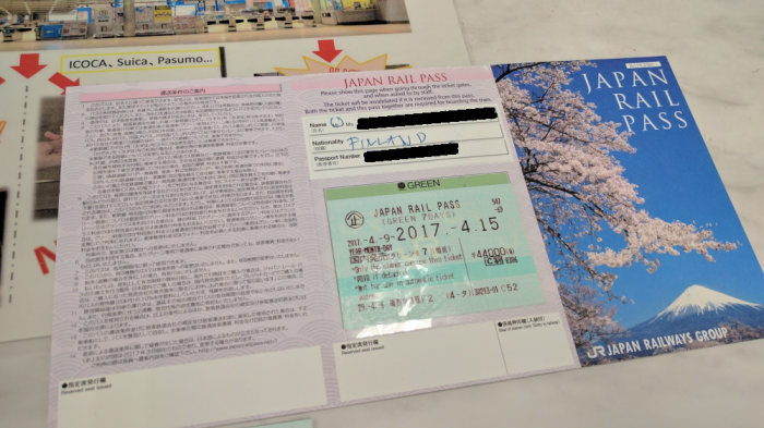 JR TIcket Office Japan Rail Pass