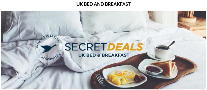 Le Club AccorHotels UK & Ireland Happy Mondays Gone Secret Deals Bed & Breakfast